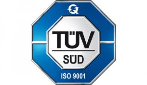 TÜV SÜD ISO 9001 Zertifizierung.