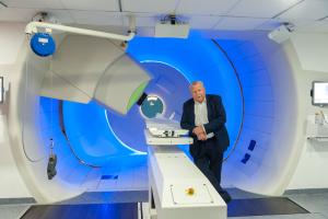 Behandlung von Krebspatienten mit Strahlentherapie am WPE.